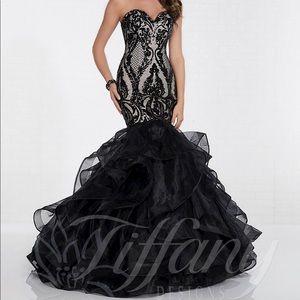 Black Tiffany Mermaid Gown Size 10